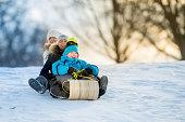 Winter Fun on Tobbogan Hill