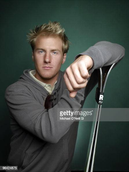 Alpine Skier Ted Ligety poses at a portrait session for Sports Illustrated in Chicago IL on February 8 2010 CREDIT MUST READ O Photo/ Sports...