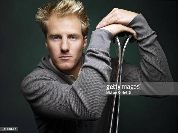 Alpine Skier Ted Ligety poses at a portrait session for Sports Illustrated in Chicago IL on February 8 2010