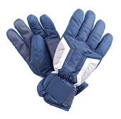 black winter gloves