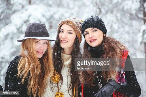 winter hipster fashion portrait : Stock Photo