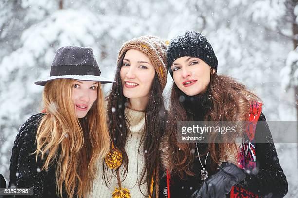 winter hipster fashion portrait