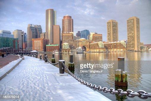 Winter in Boston, Massachusetts
