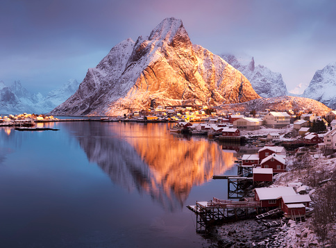 Winter in Reine, Lofoten Islands, Norway