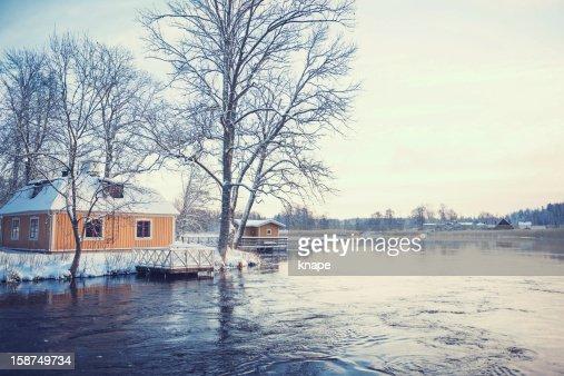 Winter in Sweden : Stock Photo