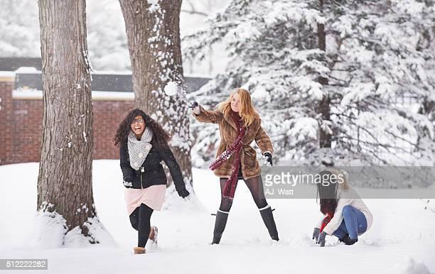 L'hiver est amusant de neige