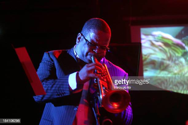 Winter Jazzfest in three different locations in West Village on Saturday night January 10 2009This imageThe trumpeter Terence Blanchard of the Watt...
