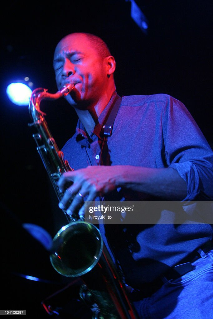 Winter Jazzfest in three different locations in West Village on Saturday night January 10 2009This imageThe tenor saxophonist Branford Marsalis of...