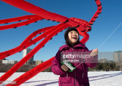 Winter Kite Festival in Milwaukee Wisconsin : Stock Photo