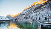 winter koenigssee bayern alps landscape