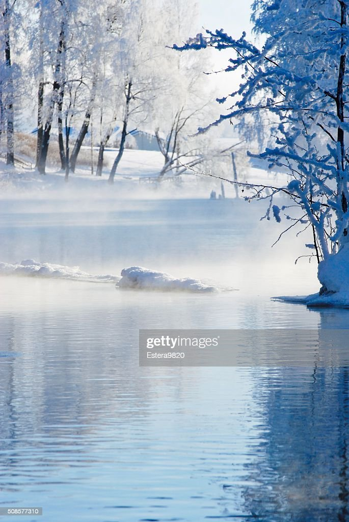 Winter lake : Stockfoto