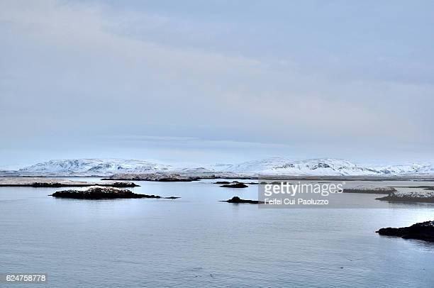 Winter landscape at Stykkisholmur in western region of Iceland