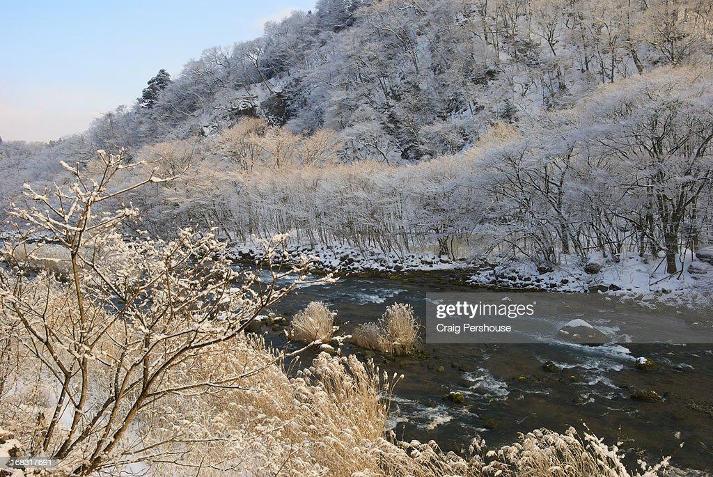 Winter landscape by the Daiya River
