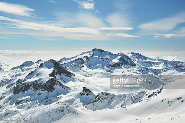 Winter landscape from Pirin mountain in  Bulgaria