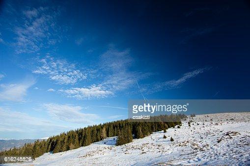 Winter landscape in Austria : Stock Photo