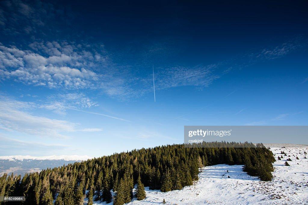 Paisaje de invierno en Austria : Foto de stock