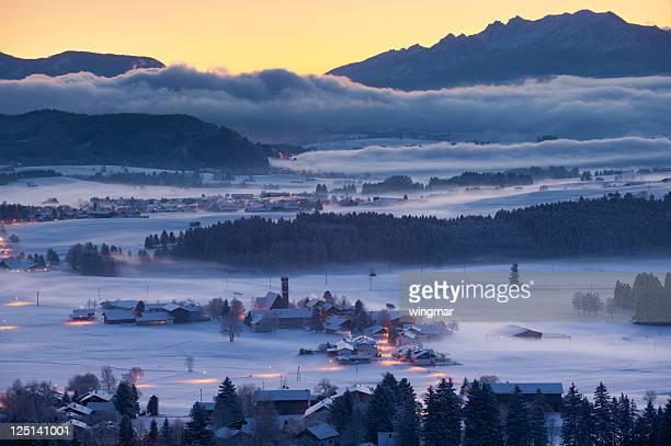 winter-Landschaft in Bayern, Deutschland