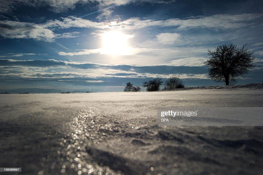 A winter landscape is pictured on December 14, 2012 in Bautzen, eastern Germany.