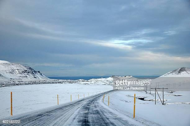 Winter landscape near Stykkishólmur at Snæfellsnes in the west part of Iecland