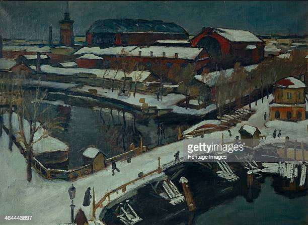 Winter landscape Petrograd 1920 Found in the collection of the State Art Museum Odessa
