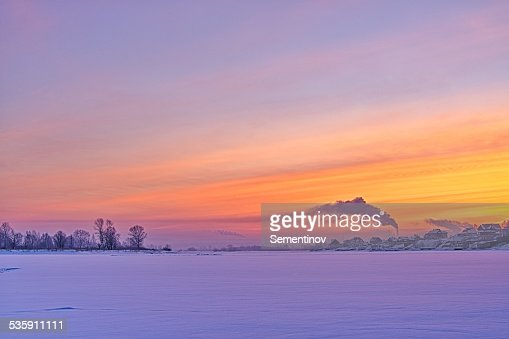 Paisaje de invierno : Foto de stock
