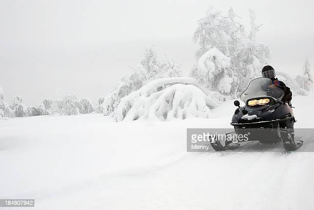 Winter Landscape Snowmobile Expedition