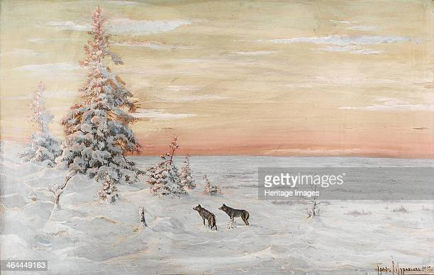 Winter Landscape with wolves 1915 From a private collection