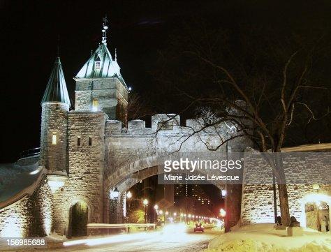 Winter lights of Quebec : Stockfoto