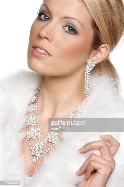 冬、贅沢な女性