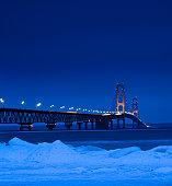Winter Mackinac Bridge