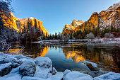 Winter scene of Yosemite
