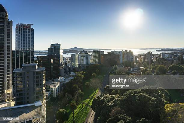 Winter Morning Sun on Auckland, New Zealand