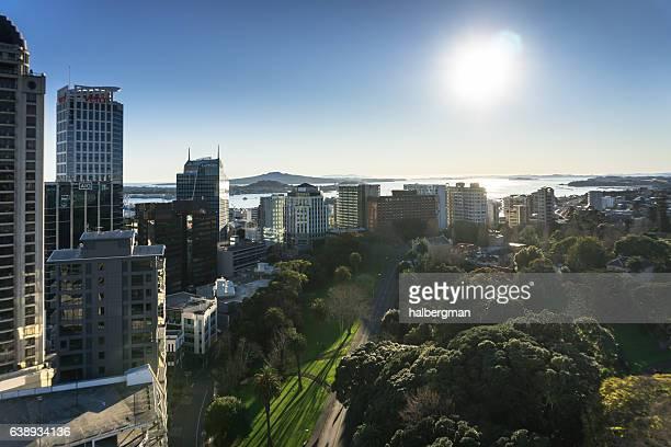 Winter Morning Sun on Auckland, New Zealand