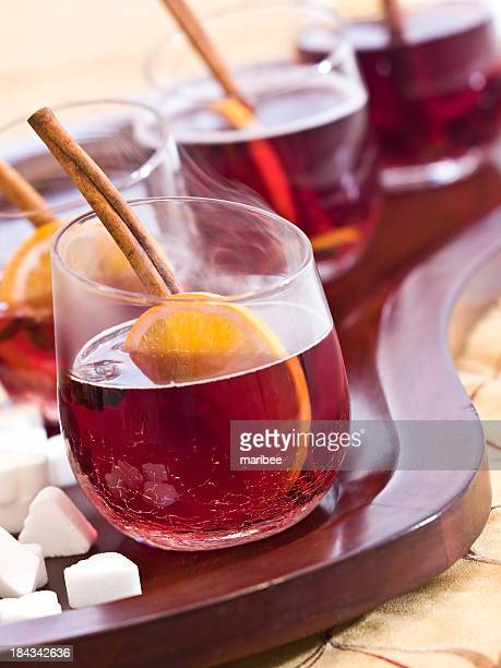 Winter Mulled Red Wine (complete with steam)
