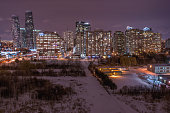 Winter night in Mississauga