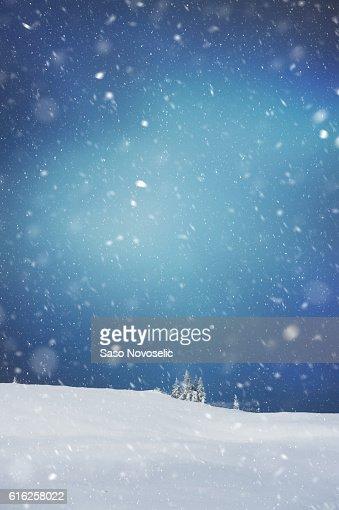 Noite de Inverno : Foto de stock