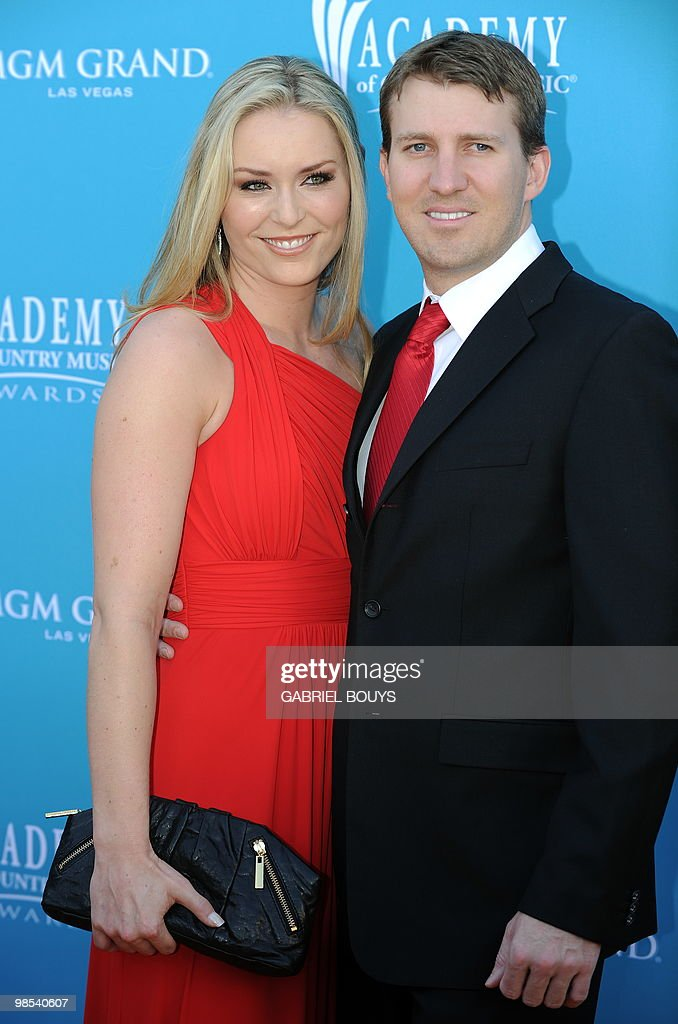 Winter Olympic gold medalist Lindsey Vonn arrives with her husband Thomas Vonn at the 45th Academy of Country Music Awards in Las Vegas, Nevada, on April 18, 2010.