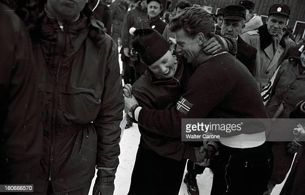 Winter Olympics 1952 Oslo Norway Les VIe Jeux Olympiques d'hiver d'Oslo 1952 en Norvège du 14 au 25 février le Norvégien Stein ERIKSEN skieur...