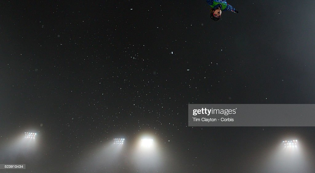 Winter Olympics Vancouver 2010 Ashley Caldwell USA in action during the Freestyle Skiing Ladies' Aerials Final at Cypress Mountain during the...
