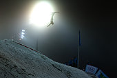 Winter Olympics Vancouver 2010 Assoli Slivets Belarus in action during the Freestyle Skiing Ladies' Aerials Final at Cypress Mountain during the...