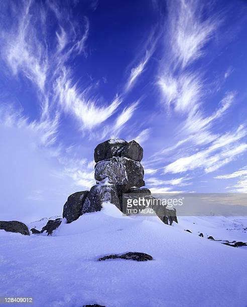 winter on the main range, kosciuszko nat. park, australia