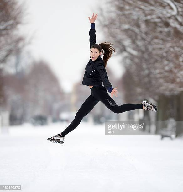 Winter Outdoor Fitness, Beautiful Female