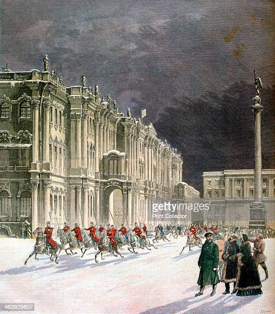Winter Palace Saint Petersburg Russia 1891 A print from the Le Petit Journal 14th March 1891
