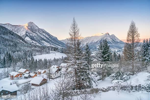 Winter, Panorama, den österreichischen Alpen