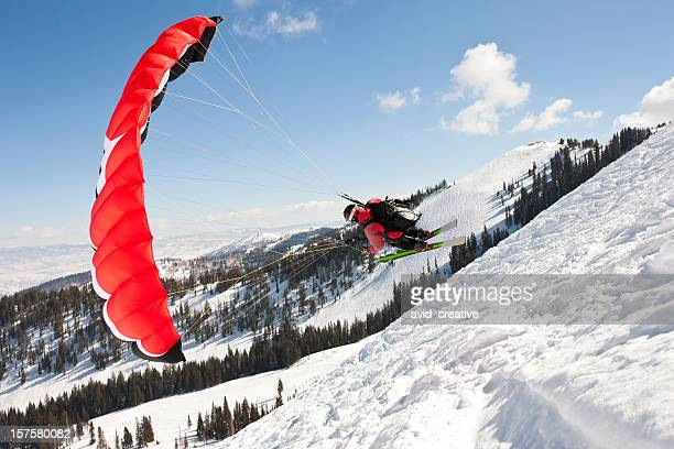 Winter Parachuting