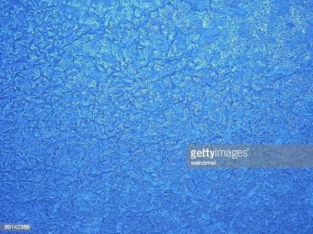 Winter Muster auf Glas
