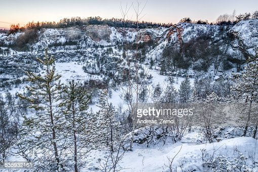 Winter Quary : Stock Photo