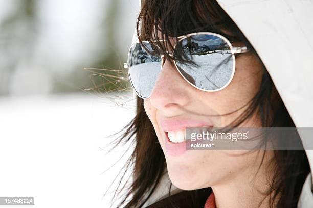 Winter Reflection in Sunglasses