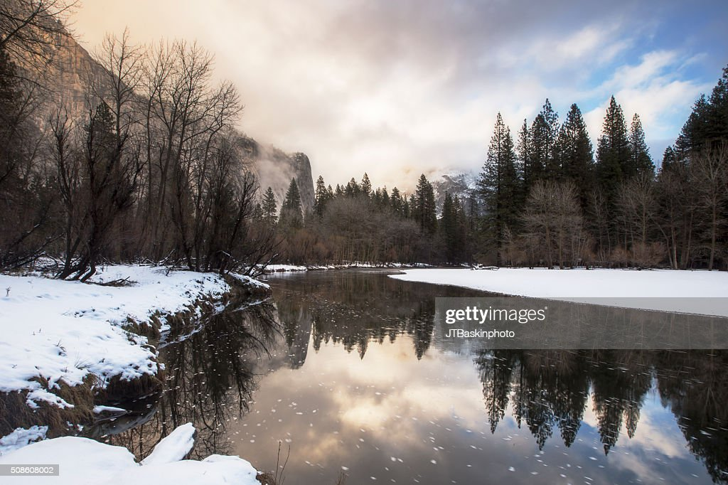 Winter Reflections in the Merced River