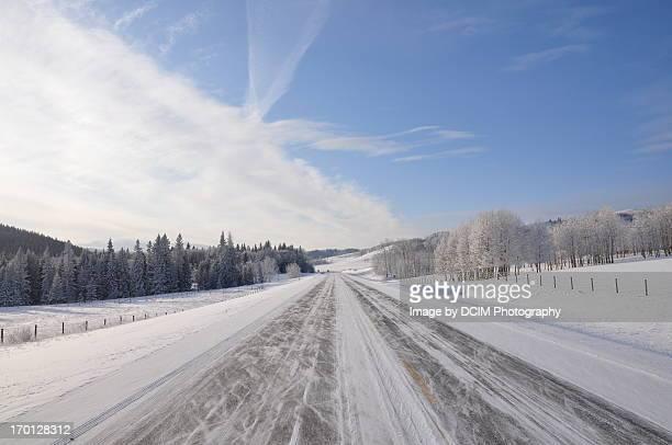 Winter Road Kananaskis Country